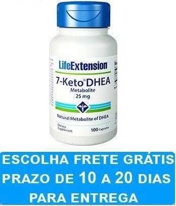 7-Keto DHEA 25 mg - Life Extension - 100 cápsulas (envio Internacional)