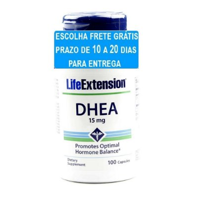 DHEA 15 mg -  Life Extension - 100 cápsulas (Envio Internacional)