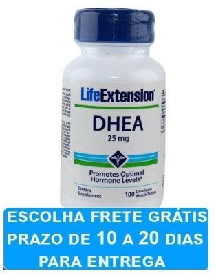 DHEA 25 mg Sublingual -  Life Extension - 100 comprimidos (Envio Internacional)
