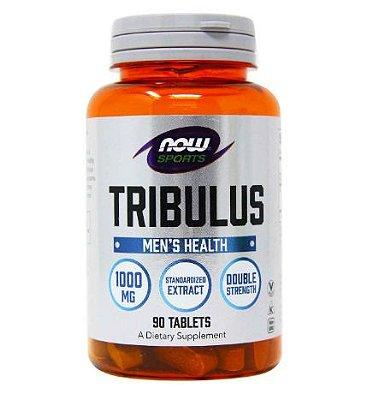 Tribulus Terrestris 1000 mg com 45 % saponinas - Now Foods - 90 comprimidos (Envio Internacional)