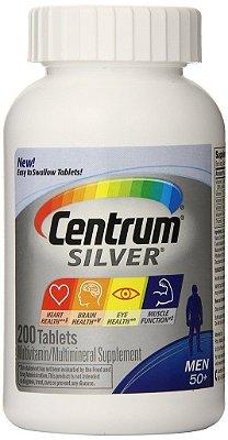 Centrum Silver 50+ MEN - 200 tabletes  - Ideal para Homens com 50 anos ou mais (Envio Internacional)