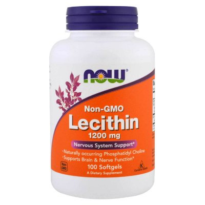 Lecitina 1200 mg - Now Foods - 100 softgels (Envio Internacional)