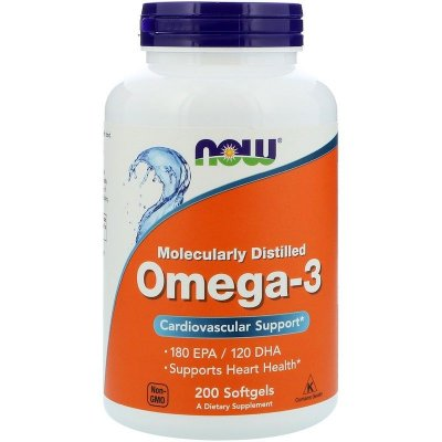 Ômega 3 1000 mg - Now Foods - 200 softgels (Envio Internacional)