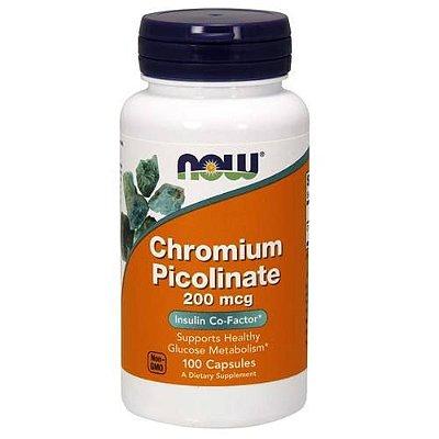 Picolinado de Cromo 200 mcg - Now Foods - 100 cápsulas (Envio Internacional)