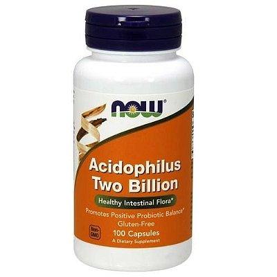 Probiótico Acidophilus 2 Bilhões - Now Foods - 100 Cápsulas (Envio Internacional)