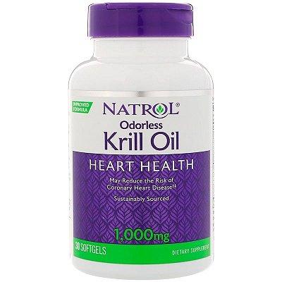 Ômega 3 + Óleo de Krill 1000 mg - Natrol - 30 softgels (Envio Internacional)