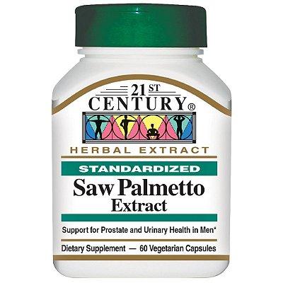 Saw Palmetto Extract  - 21 st Century - 60 cápsulas (Envio Internacional)