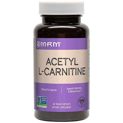 Acetil L-Carnitina 500 mg -  MRM  - 60 cápsulas (Envio Internacional)