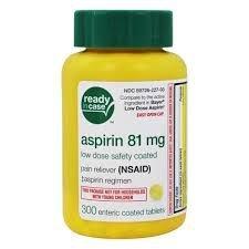 Aspirina Analgésico para Adultos de Baixa Potência 81 mg. - 300 Comprimidos  (Envio Internacional)