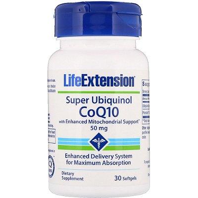 Super Ubiquinol Coq-10 50 mg - Life Extension - 30 softgels (Envio Internacional)