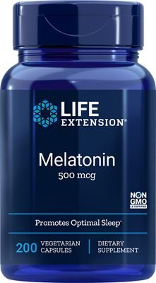 Melatonina 500 mcg - Life Extension - 200 cápsulas vegetarianas (Envio Internacional 10-20 dias -FRETE GRÁTIS)