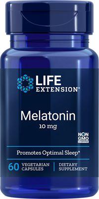 Melatonina 10 mg - Life Extension - 60 cápsulas vegetarianas (Envio Internacional 10-20 dias -FRETE GRÁTIS)