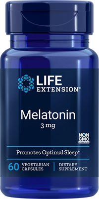 Melatonina 3 mg - Life Extension - 60 tabletes vegetarianos (Envio Internacional 10-20 dias -FRETE GRÁTIS)