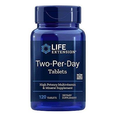 Multivitamínico de alta potência dois dias por dia - 120 comprimidos - Life Extension (Envio Internacional 10-20 FRETE GRÁTIS)
