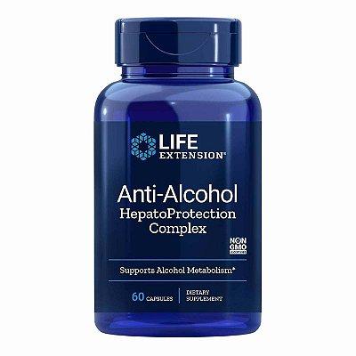 Anti-Álcool HepatoProteção Complexo - 60 Cápsulas Vegetarianas - Life Extension (Envio Internacional 10-20 FRETE GRÁTIS