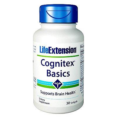 Cognitex Basics - 30 cápsulas gelatinosas - Life Extension (Envio Internacional 10-20 FRETE GRÁTIS)