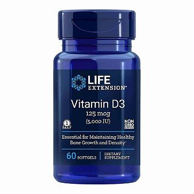 Vitamina D3 - 5.000 UI - 60 cápsulas - Life Extension (Envio Internacional 10-20 FRETE GRÁTIS)