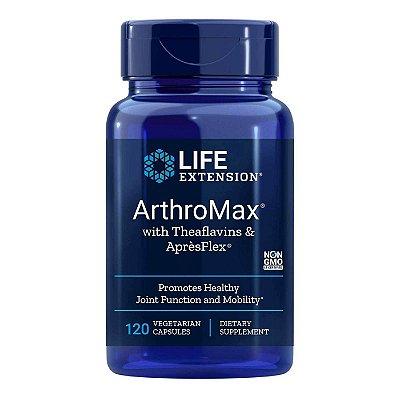 ArthroMax com Theaflavins e ApresFlex - 120 cápsulas vegetarianas - Life Extension (Envio Internacional 10-20 FRETE GRÁTIS)