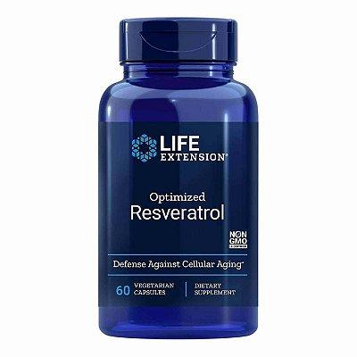 Otimizado Resveratrol - 250 mg - 60 Cápsulas Vegetarianas - Life Extension nacional 10-20 FRETE GRÁTIS)