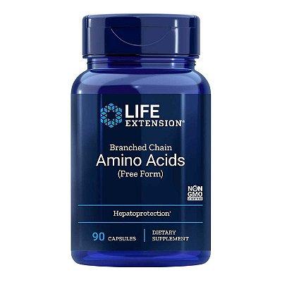 Aminoácidos de Cadeia Ramificada 90 Cápsulas - Life Extension • (Envio Internacional 10-20 FRETE GRÁTIS)