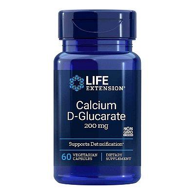 Cálcio D-Glucarato 60 Cápsulas Vegetarianas - Life Extension (Envio Internacional 10-20 FRETE GRÁTIS)