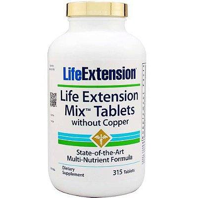 Mix comprimidos com niacina extra - sem cobre, 315 comprimidos - Life Extension (Envio Internacional 10-20 FRETE GRÁTIS)