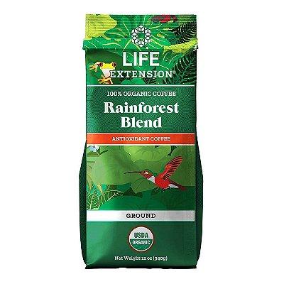 Organic Rainforest Blend Café moído - 12 oz (340 g) - Life Extension (Envio Internacional 10-20 FRETE GRÁTIS)