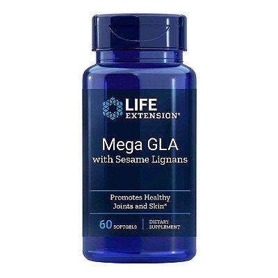Mega GLA com gergelim Lignans - 60 Cápsulas em Gel -Life Extension (Envio Internacional 10-20 FRETE GRÁTIS)