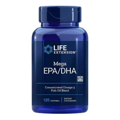 Mega EPA DHA Omega 3 from Fish Oil Concentrate - 120 Softgels -Life Extension (Envio Internacional 10-20 FRETE GRÁTIS)