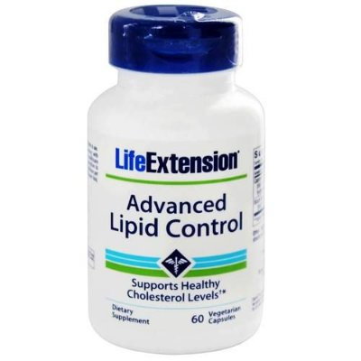 Advanced Lipid Control - 60 Cápsulas Vegetarianas - Life Extension  (Envio Internacional 10-20 FRETE GRÁTIS)