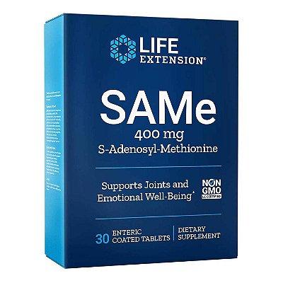 SAMe - 400 mg - 30 comprimidos - Life Extension (Envio Internacional 10-20 FRETE GRÁTIS)