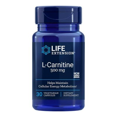 L-Carnitina - 30 cápsulas - Life Extension  (Envio Internacional 10-20 FRETE GRÁTIS)