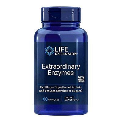 Enzimas Extraordinárias - 60 Cápsulas - Life Extension (Envio Internacional 10-20 FRETE GRÁTIS)