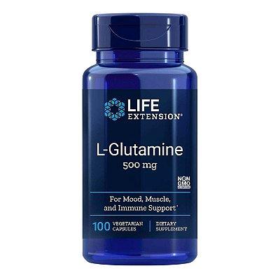 L-Glutamina - 100 Cápsulas Vegetarianas - Life Extension (Envio Internacional 10-20 FRETE GRÁTIS)