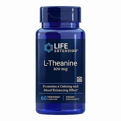 L-Theanine 100 mg - 60 Cápsulas Vegetarianas  - Life Extension   (Envio Internacional 10-20 FRETE GRÁTIS)