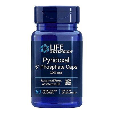 Piridoxal 5'-Fosfato Caps 100 mg - 60 Cápsulas Vegetarianas - Life Extension (Envio Internacional 10-20 FRETE GRÁTIS)