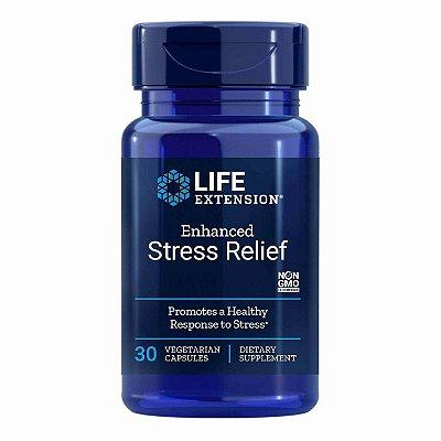 Alívio do estresse aprimorado- 30 Cápsulas Vegetarianas - Life Extension   (Envio Internacional 10-20 FRETE GRÁTIS)