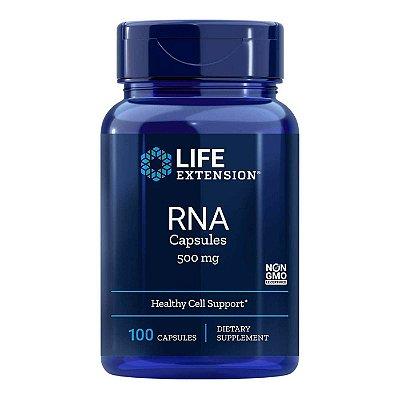 Cápsulas de RNA - 500 mg 100 Cápsulas - Life Extension   (Envio Internacional 10-20 FRETE GRÁTIS)