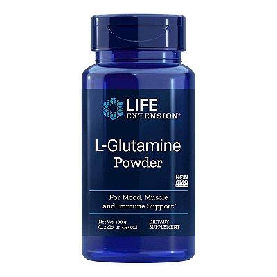 L-Glutamina em pó - 5,52 onças -  Life Extension   (Envio Internacional 10-20 FRETE GRÁTIS)