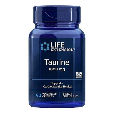 Taurina - 90 Cápsulas Vegetarianas - Life Extension   (Envio Internacional 10-20 FRETE GRÁTIS)