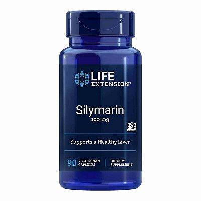 Silimarina - 100 mg - 90 Cápsulas Vegetarianas - Life Extension   (Envio Internacional 10-20 FRETE GRÁTIS)