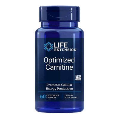 Carnitina otimizada com GlycoCarn - 60 cápsulas vegetarianas - Life Extension   (Envio Internacional 10-20 FRETE GRÁTIS)