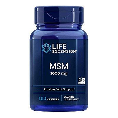 MSM 1000 mg - 100 Cápsulas - Life Extension   (Envio Internacional 10-20 FRETE GRÁTIS)