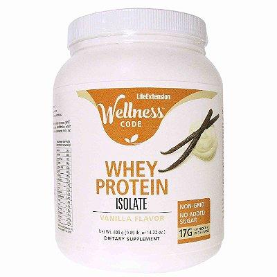 Whey Protein Isolate Vanilla - 1 lb - Life Extension   (Envio Internacional 10-20 FRETE GRÁTIS)