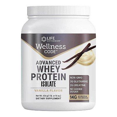 Código de Bem-Estar Advanced Whey Protein Isolate Vanilla - 1 lb (454 g) - Life Extension   (Envio Internacional 10-20 FRETE GRÁTIS)