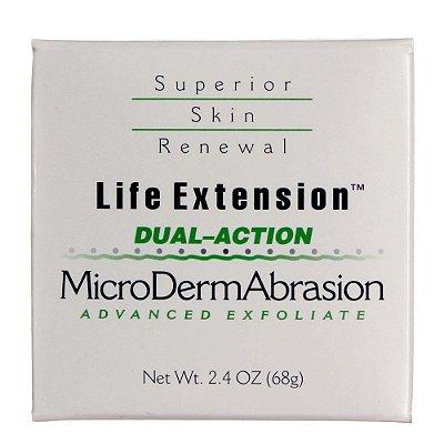 MicroDermAbrasion de ação dupla - 2,4 oz - Life Extension   (Envio Internacional 10-20 FRETE GRÁTIS)