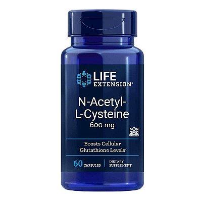 N-acetil-L-cisteína - 60 cápsulas - Life Extension   (Envio Internacional 10-20 FRETE GRÁTIS)