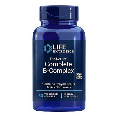 BioActive Complete B-Complex 60 Cápsulas Vegetarianas - Life Extension   (Envio Internacional 10-20 FRETE GRÁTIS)