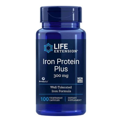 Proteína de Ferro Plus - 100 Cápsulas - Life Extension   (Envio Internacional 10-20 FRETE GRÁTIS)