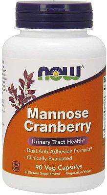 D Mannose (d-manose) e Cranberry - 90 cápsulas - Now Foods (entrega grátis 5 a 10 dias)